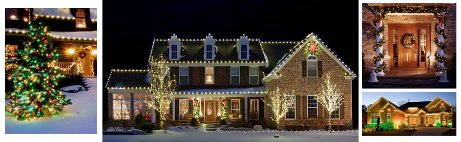 residential decorating and lighting services residential holiday decorating company maryland - Christmas Light Decorating Service